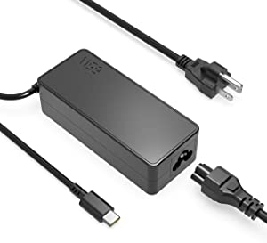 65W USB C Type-C Charger Fit for HP Spectre x360 13-v111dx 13-v011dx 13-w023dx 13-w013dx 13-ae013dx 13-ac023dx 13-ac033dx 15-ch011dx 15-bl112dx Laptop AC Adapter Power Supply Cord