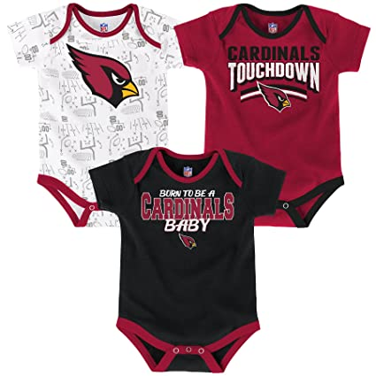 e06015ffb Outerstuff NFL Infant Playmaker 3 Piece Onesie Set-Cardinal-12 Months