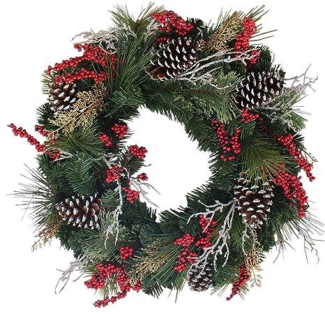 Amazon.com: Somerset Corona de Navidad artificial: Home ...