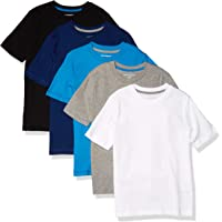 Amazon Essentials Short-Sleeve T-Shirts Fashion-t-Shirts Niños (Pack de 5)