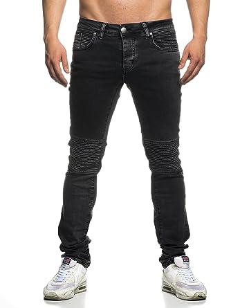 Tazzio Slim Fit Herren Destroyed Look Stretch Jeans Hose Denim 16509-1   Amazon.de  Bekleidung d2a26ab165