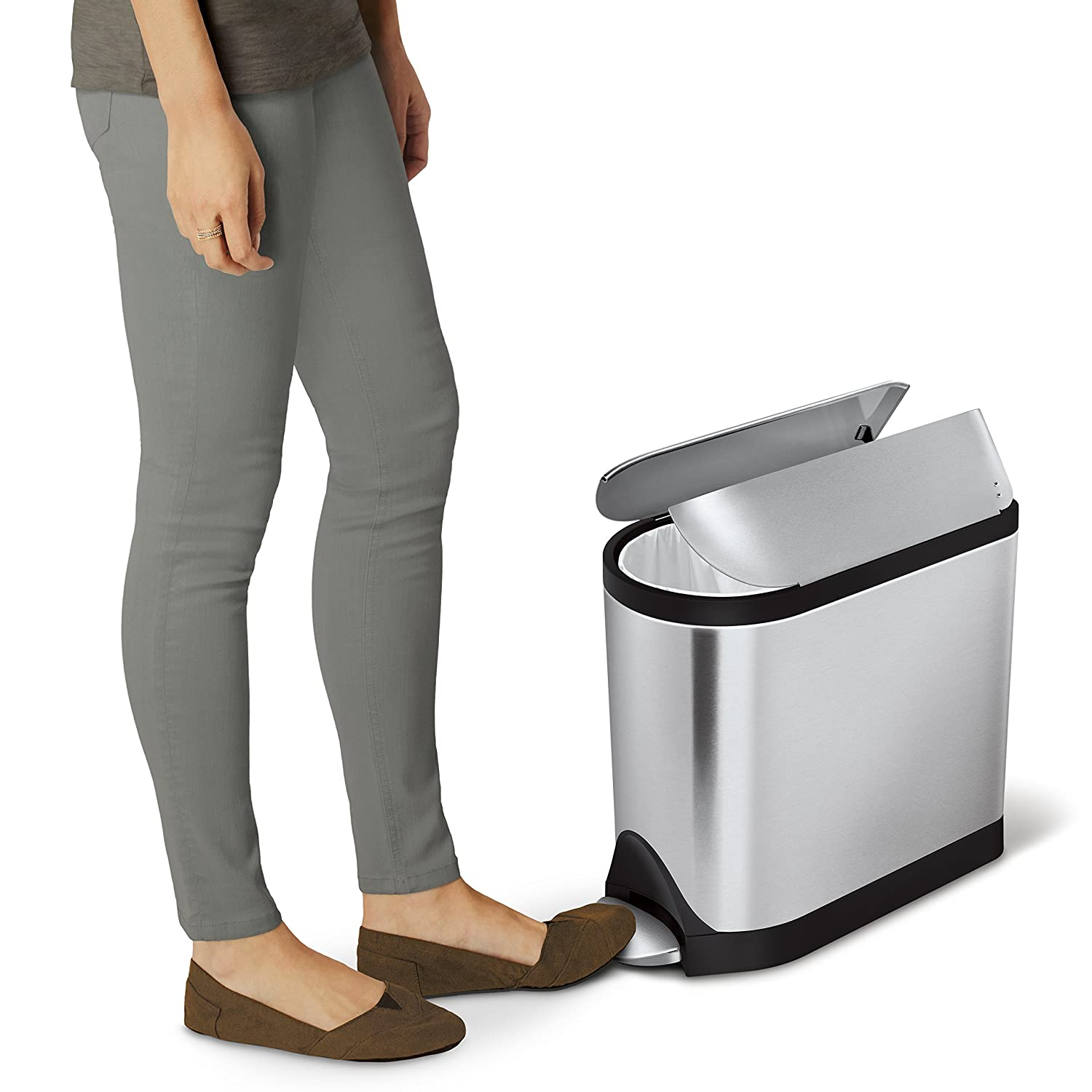 simplehuman Butterfly Step Trash Can Stainless Steel 10 L 2 6