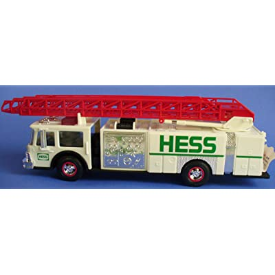 Hess H-89 Fire Truck with Dual Sound Siren, White: Toys & Games