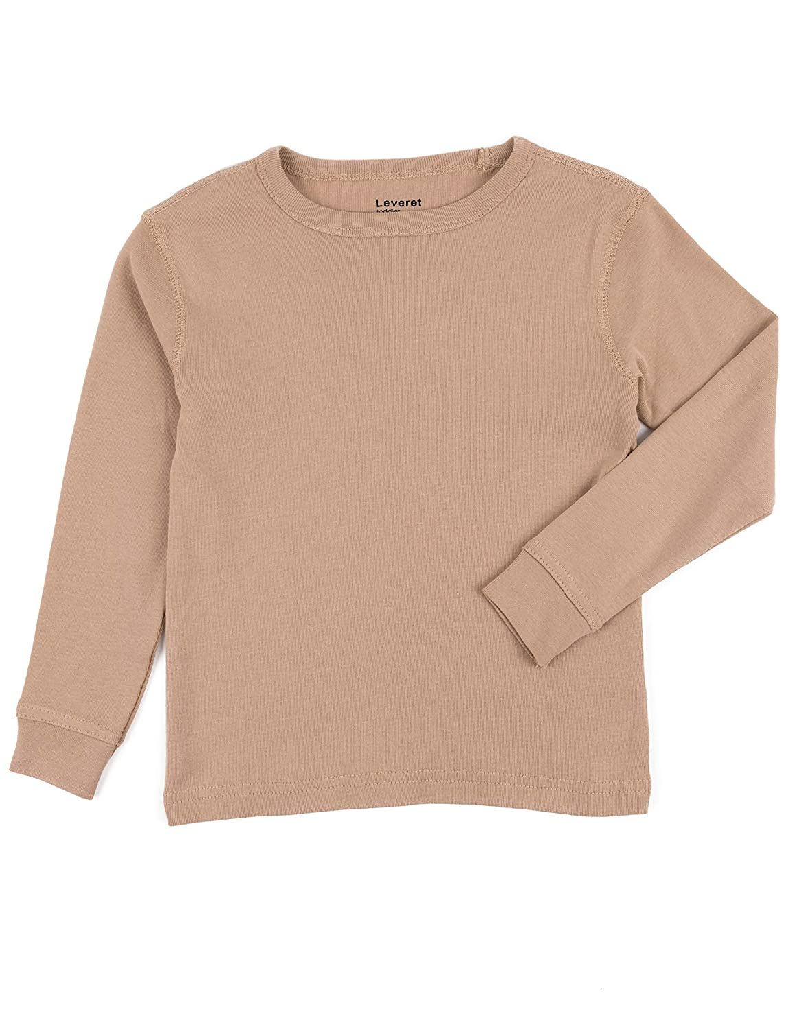 f351000c1 Amazon.com: Leveret Long Sleeve Boys Girls Kids & Toddler T-Shirt 100%  Cotton (2-14 Years) Variety of Colors: Clothing