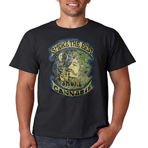 dead44b1e6fdff Vintage Weed Smoking T Shirt Smoke The Best Smoke Cannabis Mens Tee S-5XL (