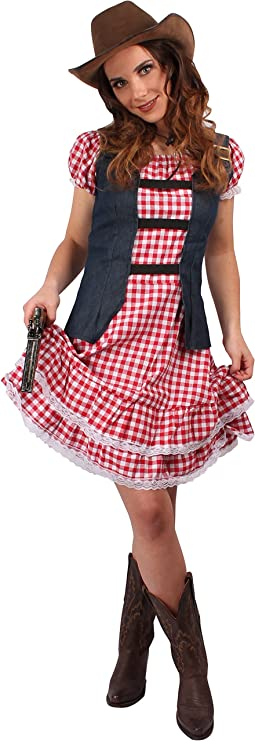 Western Set Damen Wildwest Kostüm 3-teilig Cowgirl Set Gr M