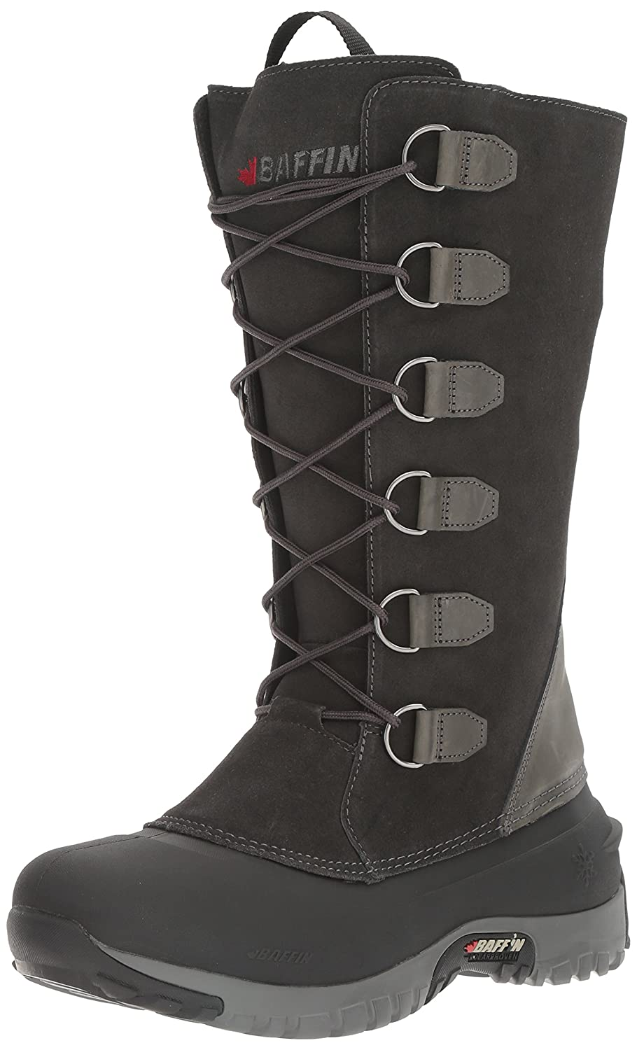 Baffin Women's Coco Insulated Suede Winter Boot B01JAECMWA 5 B(M) US|Charcoal