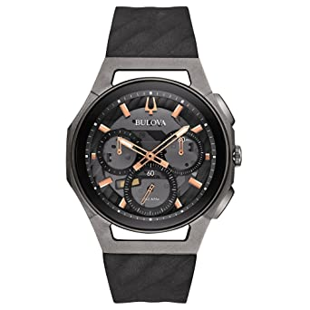 9643706c7 Bulova Men's Curv - 98A162 Black/Stainless Steel/Titanium Watch:  Amazon.co.uk: Watches