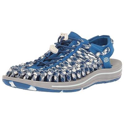 KEEN Women's Uneek Flat-W Sandal, Blue Raven, | Sandals