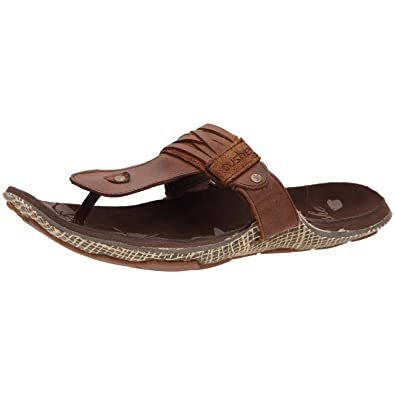 dda1c1fba0e9 Cushe Women s Manuka Strip Thong Flip Flop Brown UK 9  Amazon.co.uk  Shoes    Bags