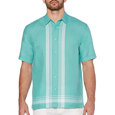 Cubavera Men's Yarn Dye L Shape Shirt: Clothing