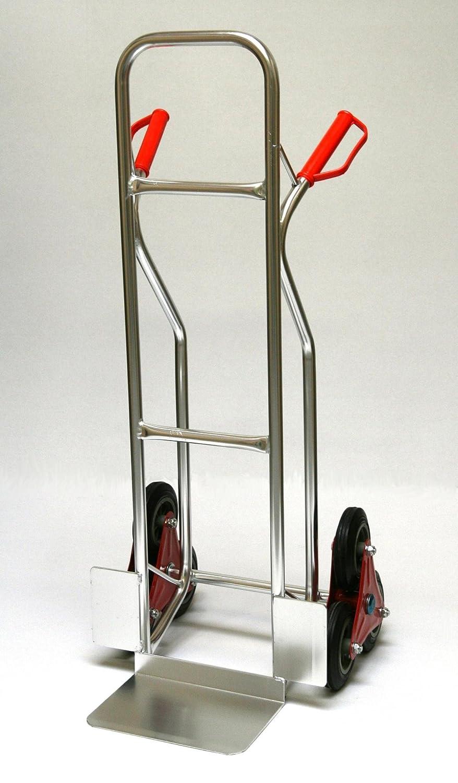 Sackkarre Treppe 200 KG Alu, 111x55x55 cm (Transportkarre Stapelkarre Handkarre)