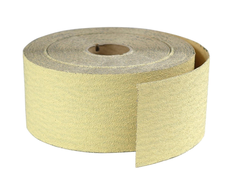 POWERTEC 4RA1108 2-3/4-Inch PSA Sanding Roll, Aluminum Oxide, 80 Grit, Gold, 25 Yard