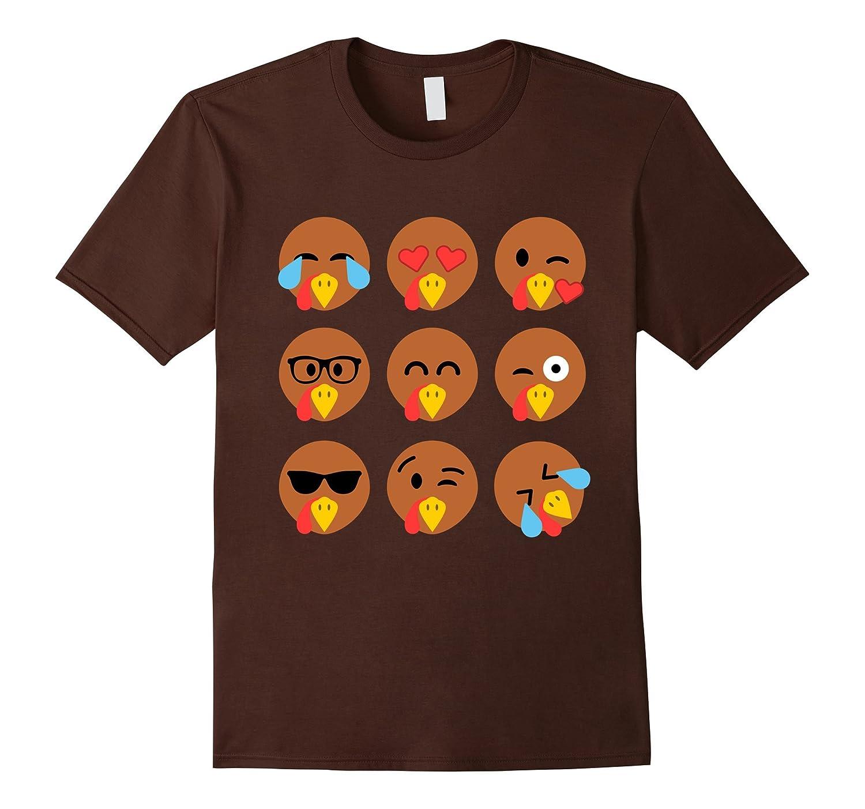 Turkey Emojis Thanksgiving T Shirt-ANZ