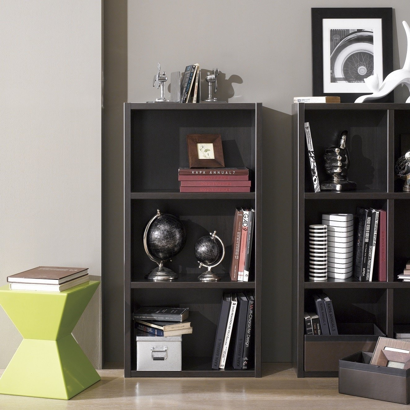 Boraam 40080 Techny Collection Hartley Hollow Core Bookcase, Light Oak