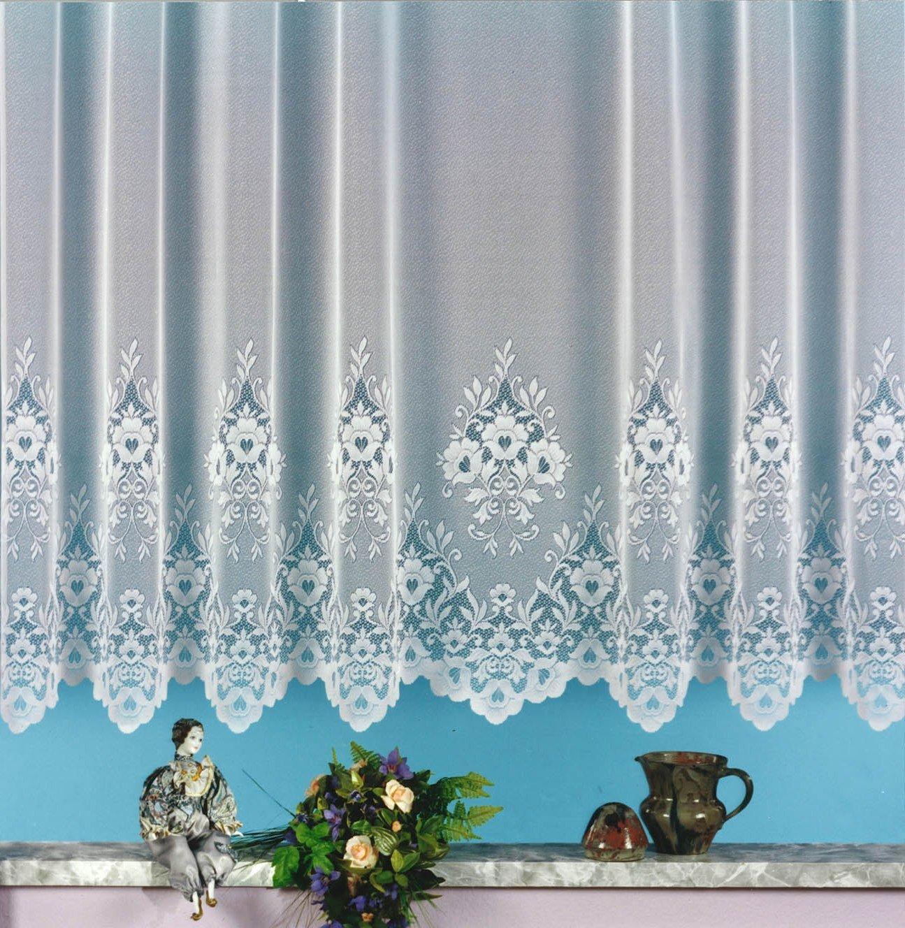 vorhnge 300 cm lang gardine jacquard wei x cm kruselband. Black Bedroom Furniture Sets. Home Design Ideas
