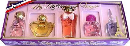 Parfums Charrier-Estuche de 5 aguas de perfumes Francia Miniatures Total 40,6 ml: Amazon.es: Belleza
