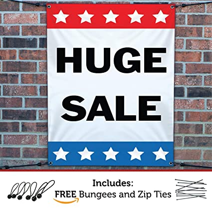 Militaria Sale Red and White Shop Sign Advertising POS 5'x3' Flag Insignes