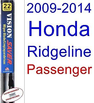 Amazon.com: 2009-2014 Honda Ridgeline Wiper Blade (Passenger) (Saver Automotive Products-Vision Saver) (2010,2011,2012,2013): Automotive