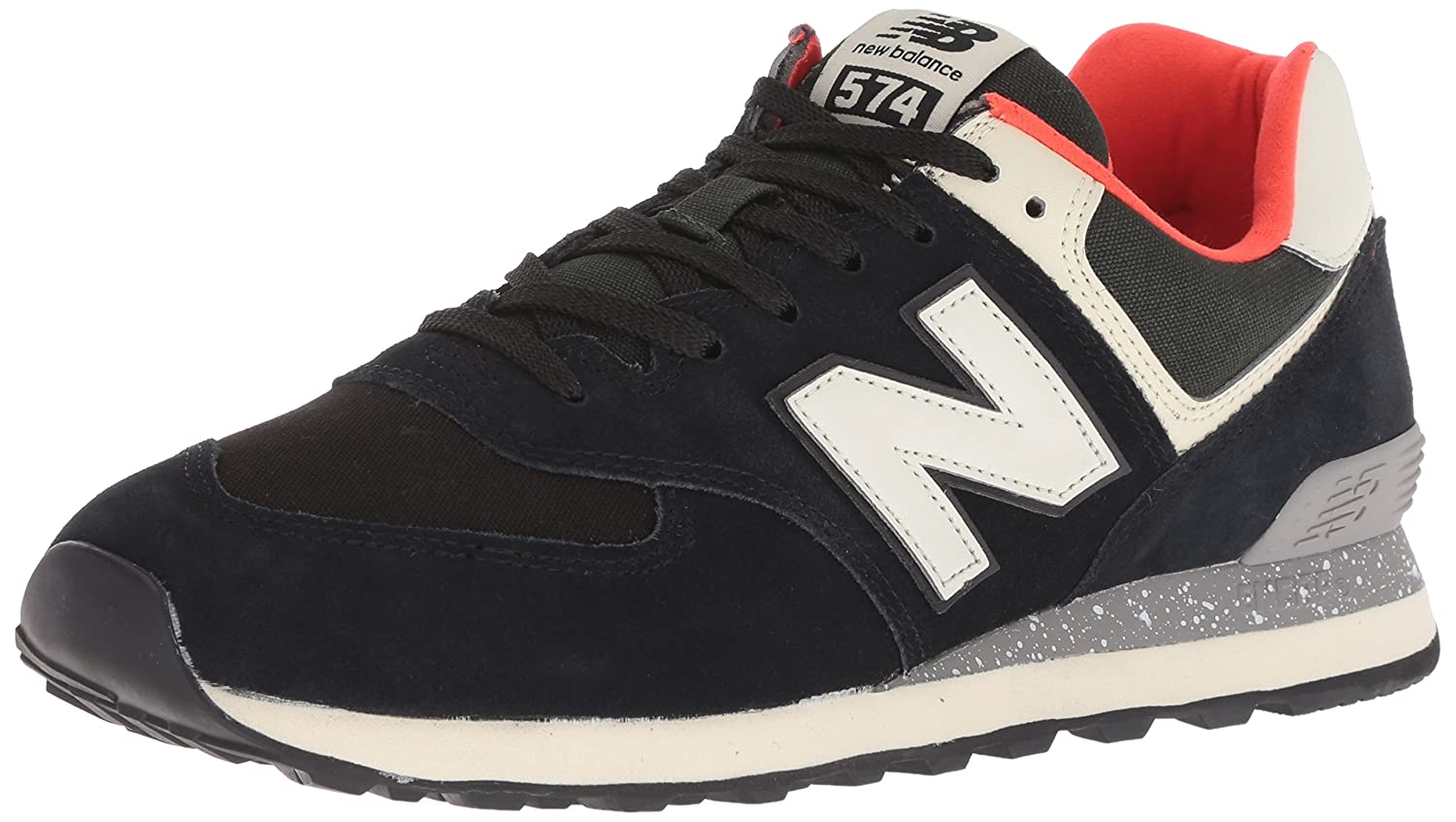 huge selection of 799ab 3cf20 New Balance Mens ML574 Suede Mesh Black Flame Trainers 8.5 UK