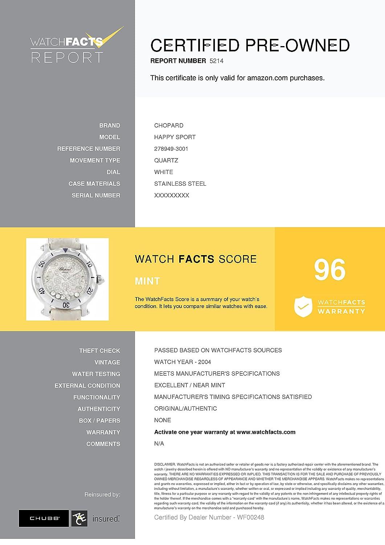 eea4c9f8849ed Chopard Happy Sport quartz womens Watch 278949-3001 (Certified Pre-owned):  Chopard: Amazon.co.uk: Watches