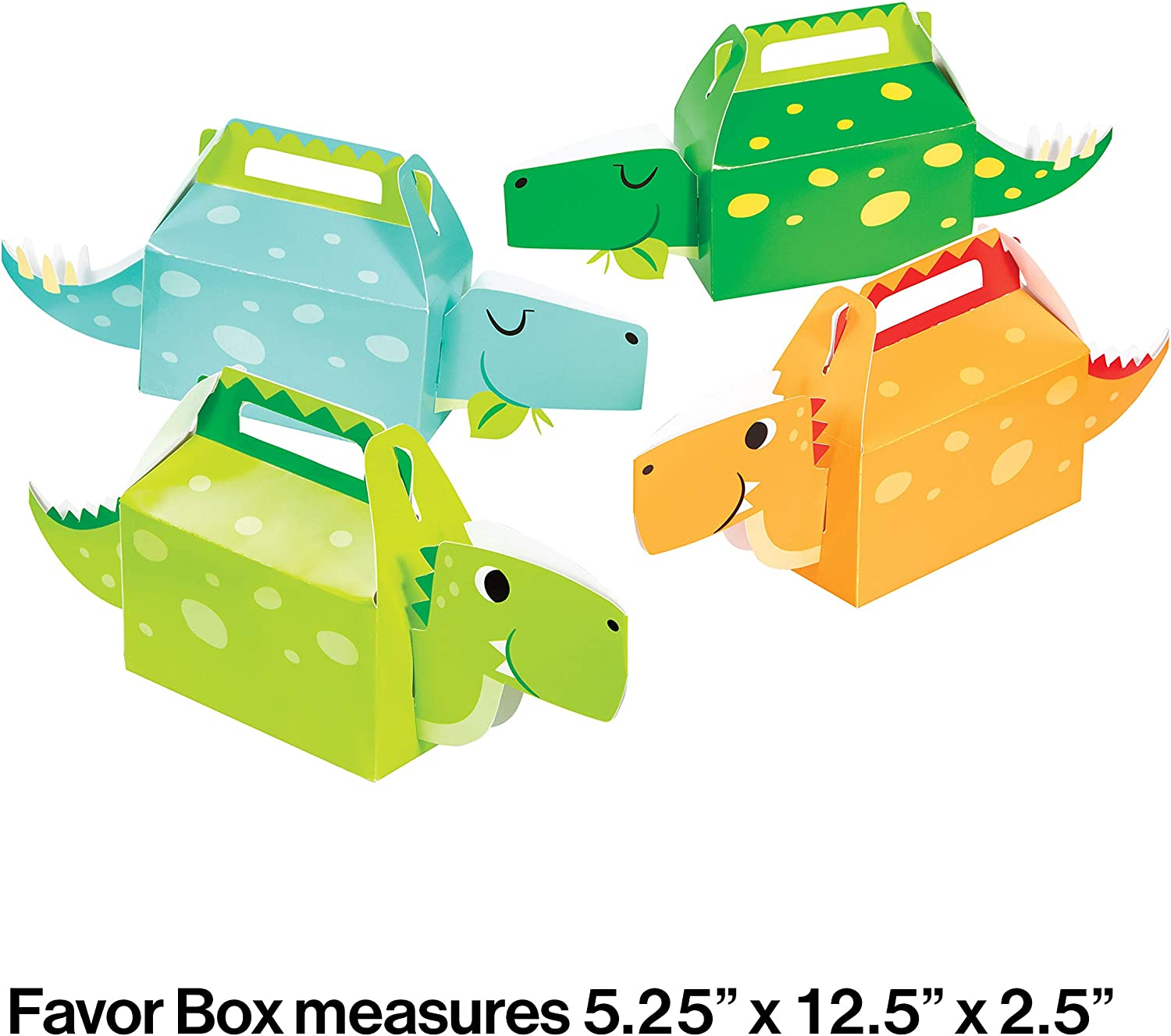 8 Pack Plus Party Planning Checklist by Mikes Super Store Dinosaur Dino Jurassic Birthday Party Plastic Loot Treat Candy Favor Box