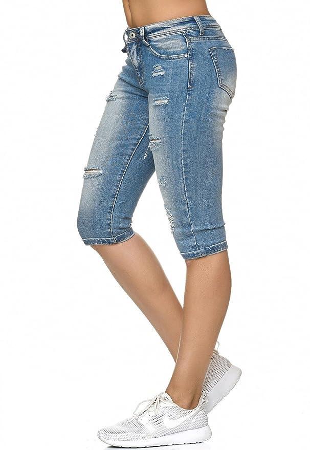 ArizonaShopping - Jeans Ladies Jeans Capri 3/4 Pants Stretch Shorts Used  D2244: Amazon.co.uk: Clothing
