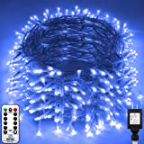 KNONEW LED String Light 1000 LED 394ft Long Christmas Lights with 8 Modes & Timer, Indoor Outdoor Plug in Fairy Lights for Ho
