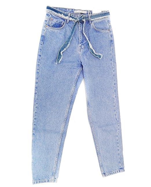 61819634a7 Zara Women High-rise mom fit jeans 8197 073 (34 EU)  Amazon.ca ...