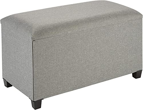 Fresh Home Elements Tray Coffee Table Ottoman with Storage Grey –