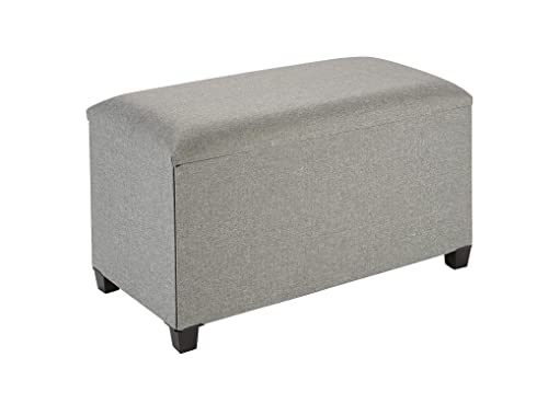 Fresh Home Elements Tray Coffee Table Ottoman with Storage Grey – 250089-013