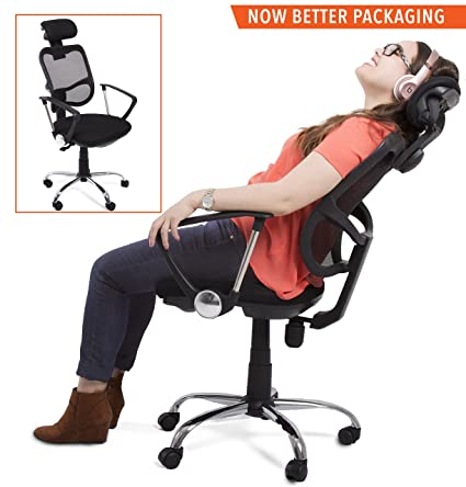 Stand Steady ProErgo Ergonomic Office Chair U2013 Supports Over 300 Lbs. U2013  Comfort Mesh Back