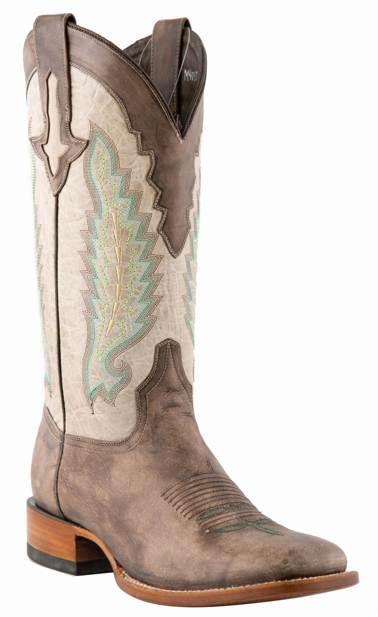 Lucchese Men's 1883 Horseman El Campo Burnished Calf Cowboy Boot Square Toe Cafe US