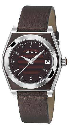 Breil TW0935 - Reloj analógico de cuarzo para mujer, correa de cuero color marrón