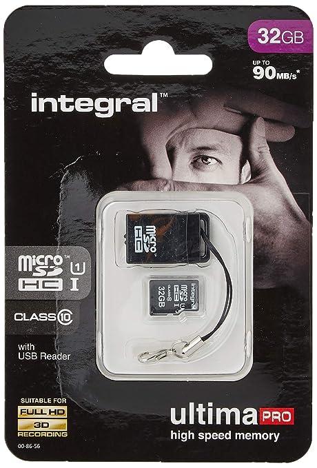 Integral UltimaPro - Tarjeta de Memoria microSDHC (32 GB, 90 ...