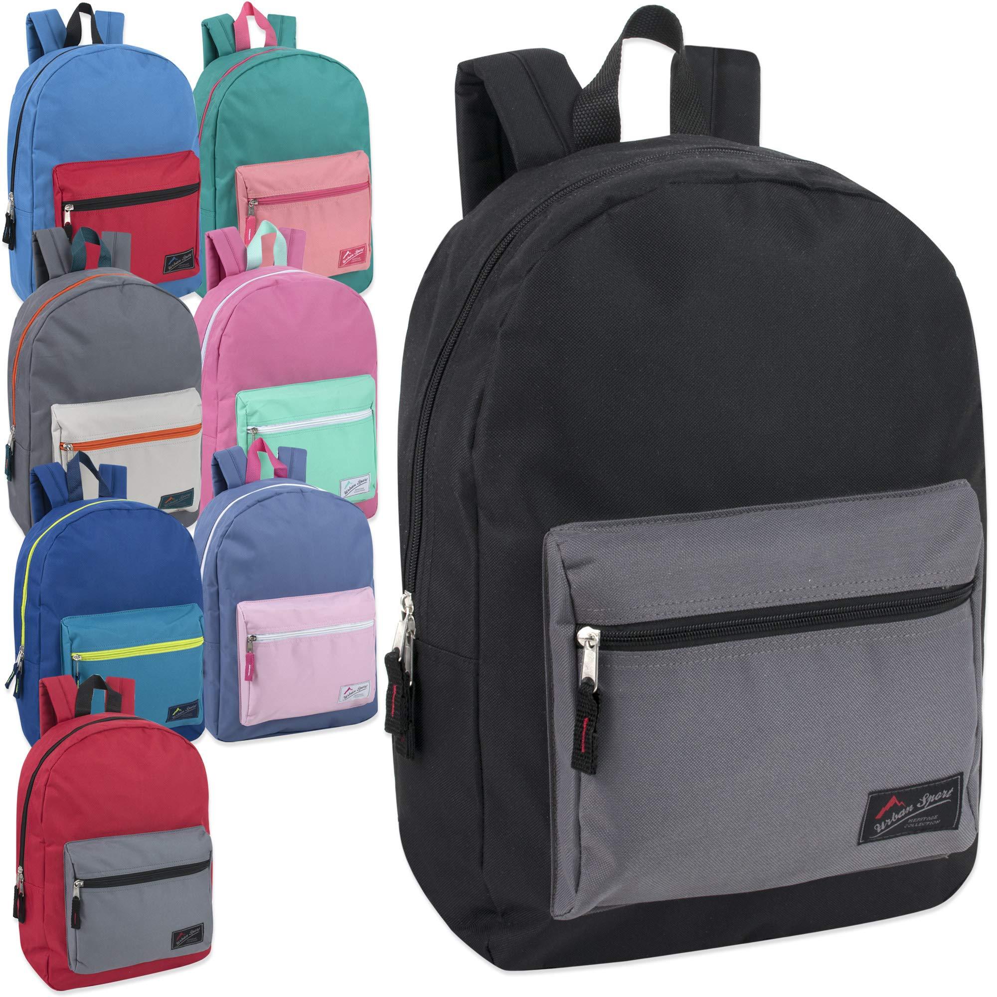 Wholesale Urban Sport 17 Inch MultiColor Block Backpacks in Bulk 24 Value Packs by Urban Sport