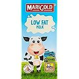 MARIGOLD Low Fat UHT Milk, Plain, 1L, (Pack of 12)
