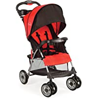 Kolcraft Cloud Plus Lightweight Easy Fold Compact Travel Stroller, Fire Red