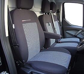 DKMOTO DK432P4 Tailored Seat Covers for Volkswagen Caddy 1+1 Van 2003 onwards