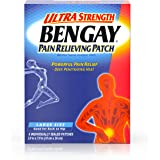 Bengay Ultra Strength, Pain Relieving Patch, Large Size, 4 Count