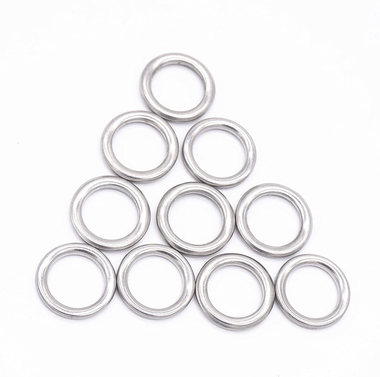 Transmission Drain Plug Gasket Engine Oil Drail Plug Crush Washer Seal Rings for Toyota 4Runner Lexus, Replacement # 35178-30010 3517830010, M12, Pack of 10 Vautoparts