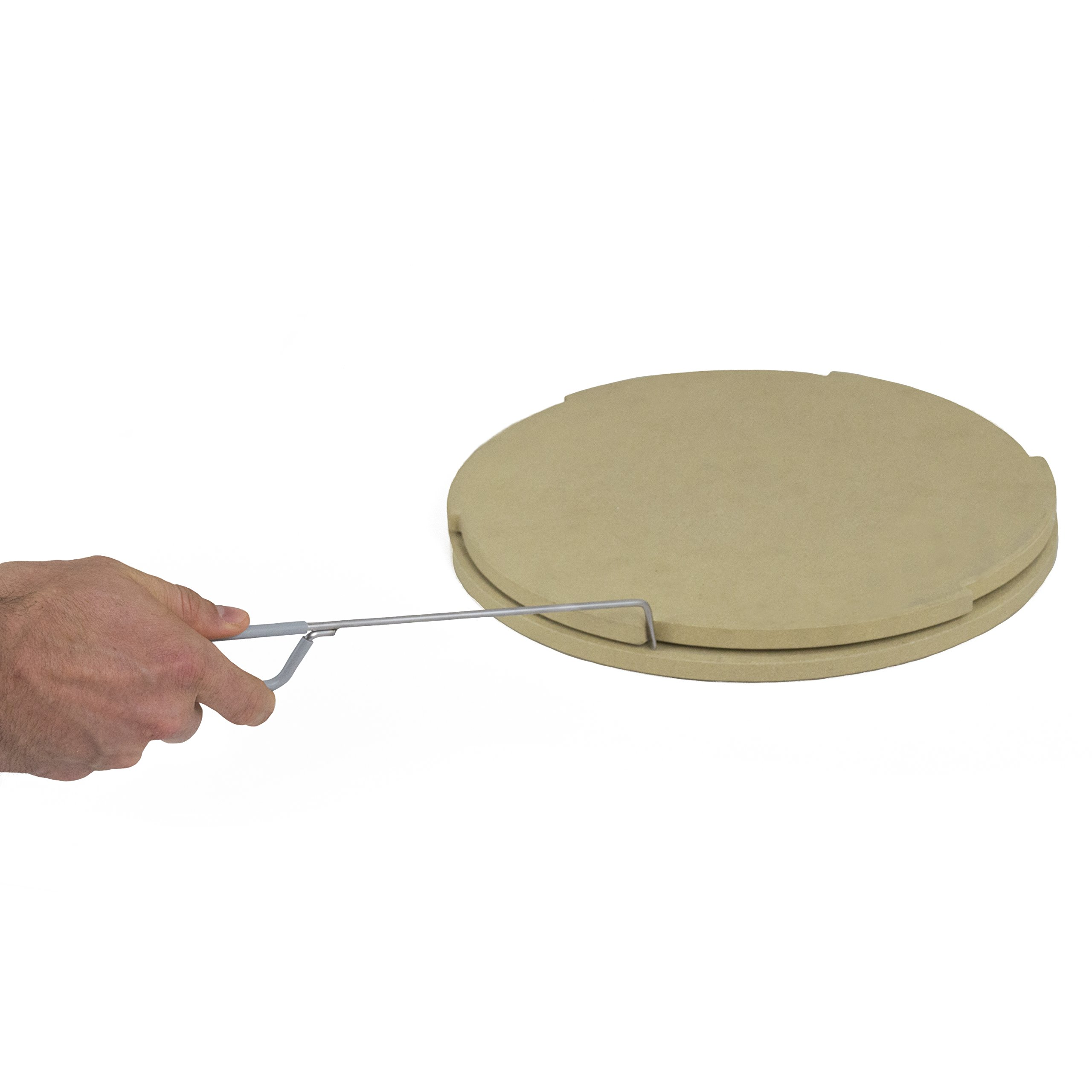 Pizzacraft PC0119 Thermabond Rotating Pizza Stone, 14'' in Diameter, 1.22'' in Height