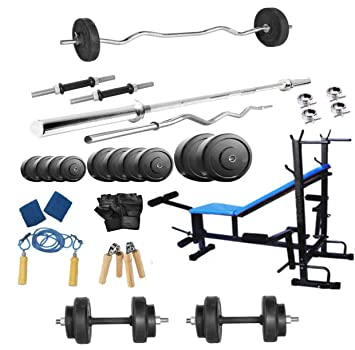 d428d8b8cb Protoner PR1008IN 8-in-1 Rubber Bench Home Gym Package