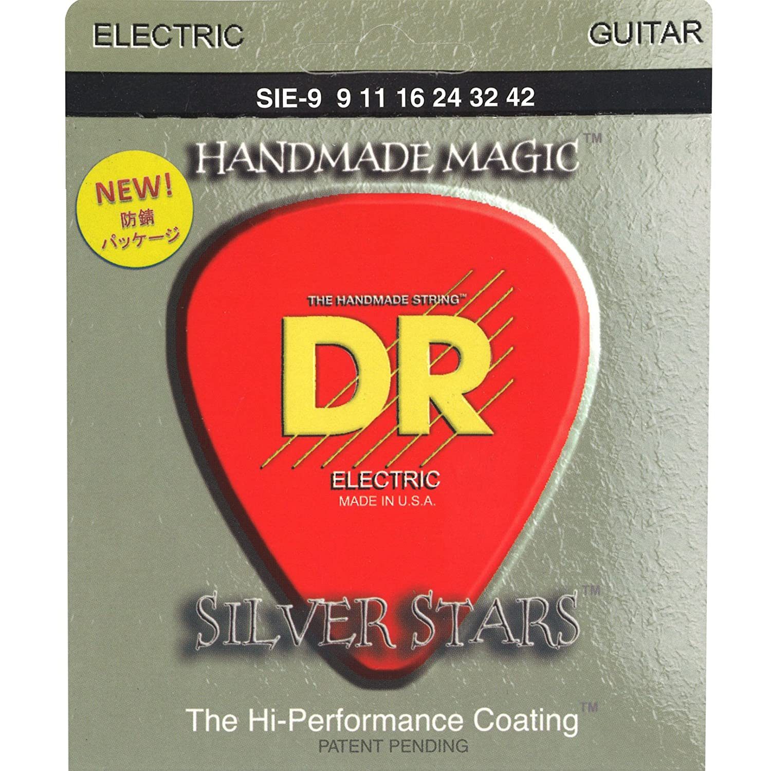 DR Strings Silver Stars-Extra-Life Silver Coated Electric 9-42 SIE-9