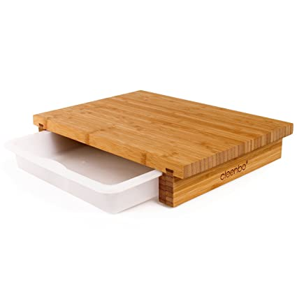 Amazoncom Cleenbo Chopping Board Classic Bamboo Oiled Bamboo - Restaurant prep table cutting boards