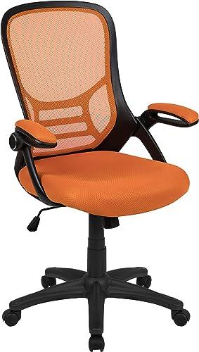 Flash Furniture High Back Orange Mesh Ergonomic Swivel Office Chair