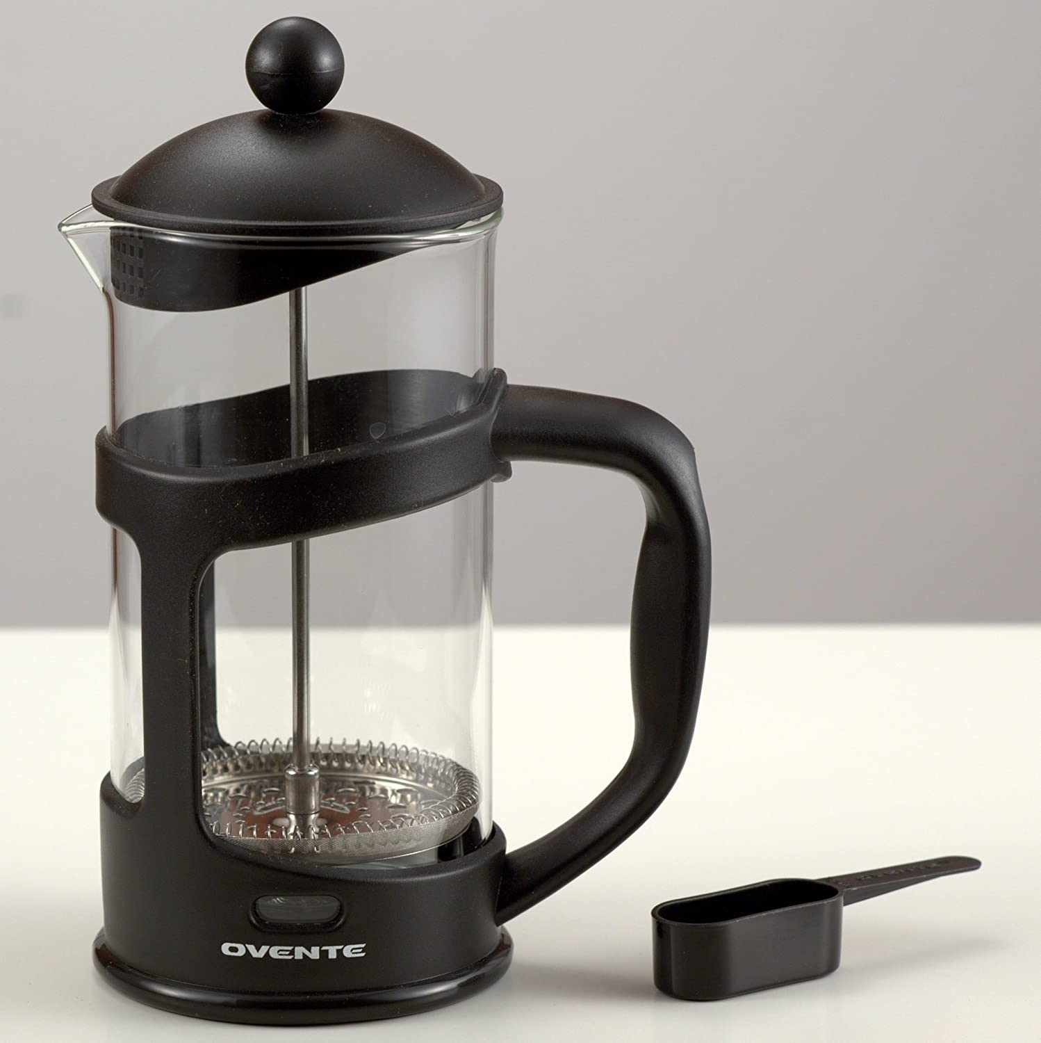 Bed bath beyond french press - Amazon Com Ovente French Press Cafeti Re Coffee And Tea Maker Heat Resistant Borosilicate Glass 12 Oz 350 Ml 3 Cup Black Fpt12b Free Measuring