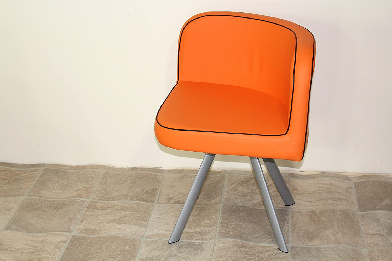 Amazon.com: Space Saver Glass Table U0026 4 Chairs Orange And Black By Jane  Harris Interiors: Kitchen U0026 Dining