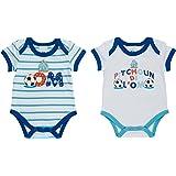 Lot de 2 x body bébé garçon OM - Collection officielle Olympique de MARSEILLE - Taille bébé garçon