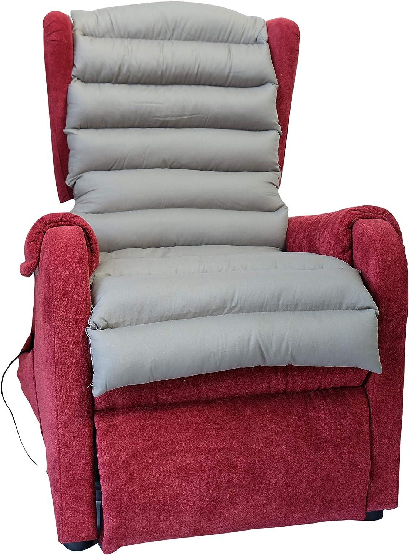 TAKIMED - Funda para sillón de fibra hueca siliconada, estera antidecúbito, revestimiento de sillón de masaje, funda universal para sillón eléctrico, producto italiano.